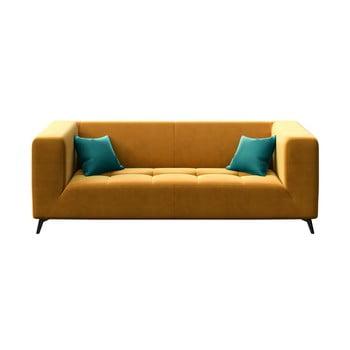 Canapea cu 3 locuri MESONICA Toro, galben miere bonami.ro