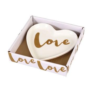 Farfurie decorativa din portelan Rex London Love Heart