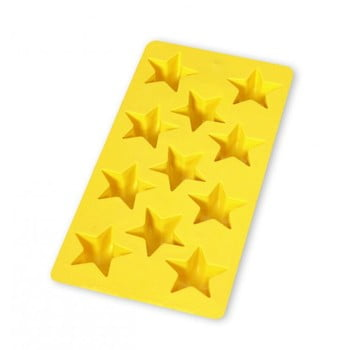 Formă din silicon pentru gheață Lékué Star, 11 cuburi, galben poza bonami.ro