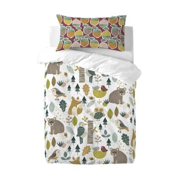 Lenjerie de pat din bumbac pentru copii Moshi Moshi Harvestwood, 115 x 145 cm poza bonami.ro