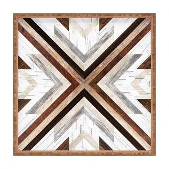 Tavă decorativă din lemn Intarzia, 40x40cm bonami.ro