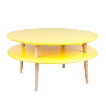 Măsuță de cafea Ragaba UFO Ø 70 cm, galben imagine
