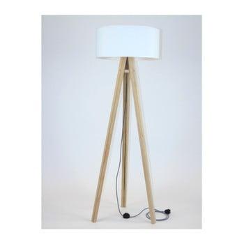 Lampadar cu abajur alb și cablu alb-negru Ragaba Wanda imagine