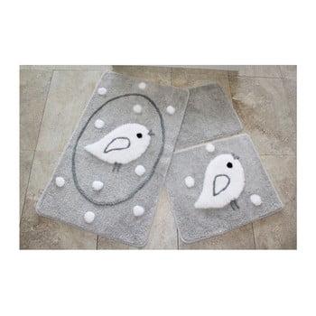 Set 3 covorase de baie Confetti Bathmats Birdie