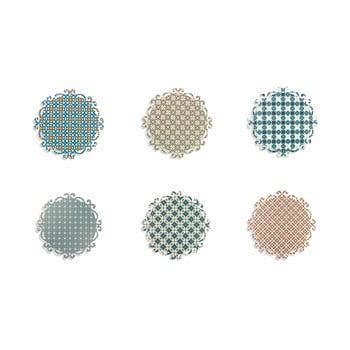 Set 6 suporturi colorate pentru farfurii Villa d'Este Lisboa, rotund poza bonami.ro