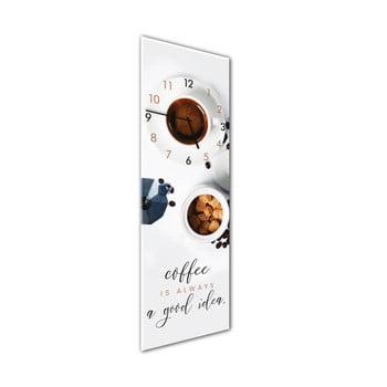 Ceas de perete Styler Glassclock Coffee Time, 20 x 60 cm poza bonami.ro