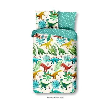 Lenjerie de pat din bumbac pentru copii Good Morning Dino bonami.ro