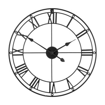 Ceas de perete Premier Housewares Matt, ⌀ 59 cm, negru poza bonami.ro