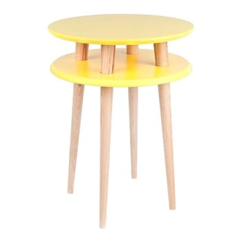 Măsuță de cafea Ragaba UFO Ø 45 cm, galben imagine