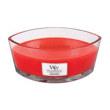 Lumânare parfumată WoodWick, aromă de fructe de pădure roșii, 30 ore bonami.ro