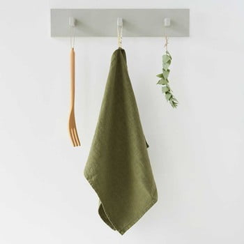 Prosop de bucătărie din in Linen Tales, 65x45cm, verde măsliniu bonami.ro