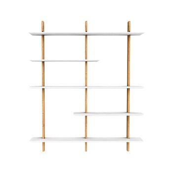 Etajeră cu structură din lemn de stejar Tenzo Bridge,lățime162cm, alb bonami.ro
