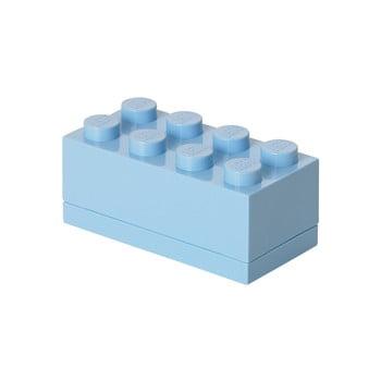 Cutie depozitare LEGO® Mini Box II, albastru deschis bonami.ro