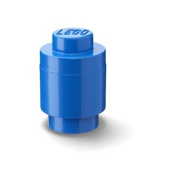 Cutie depozitare rotundă LEGO®, albastru, ⌀ 12,5 cm bonami.ro