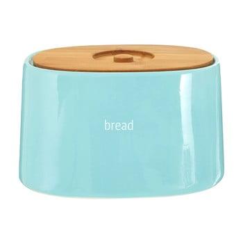 Recipient pentru pâine cu capac din lemn de bambus Premier Housewares Fletcher, 800 ml, albastru poza bonami.ro