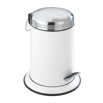 Coș de gunoi cu pedală Wenko Retoro, 3 l, alb poza bonami.ro