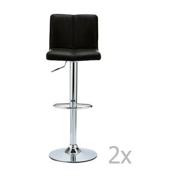Set 2 scaune de bar Furnhouse Coco, negru bonami.ro