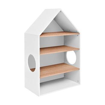 Bibliotecă în formă de casă BELLAMY Lotta, alb bonami.ro
