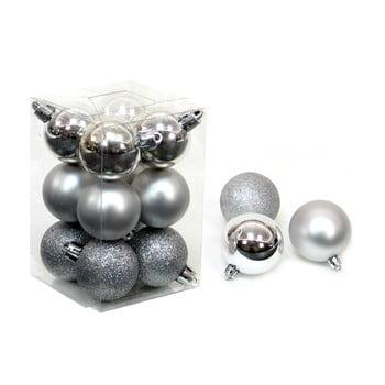 Set 12 decorațiuni de Crăciun Unimasa Navidad, argintiu bonami.ro