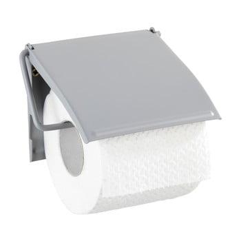 Suport de perete pentru hârtie toaletă Wenko Cover, gri poza bonami.ro