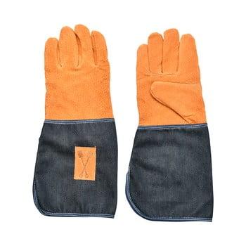 Mănuși de grădină cu protecție pentru încheietură Denim Design Esschert, albastru-portocaliu poza bonami.ro