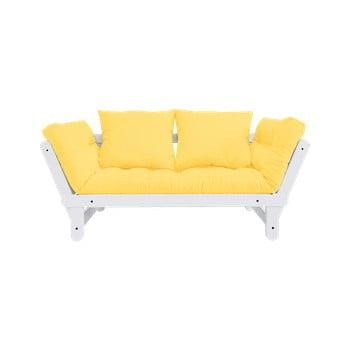 Canapea variabilă Karup Design Beat White/Yellow poza bonami.ro
