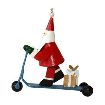 Decorațiune suspendată pentru Crăciun G-Bork Santa on Scooter poza bonami.ro