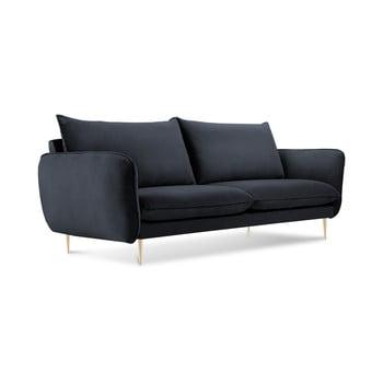Canapea cu tapițerie din catifea Cosmopolitan Design Florence, gri antracit, 160 cm