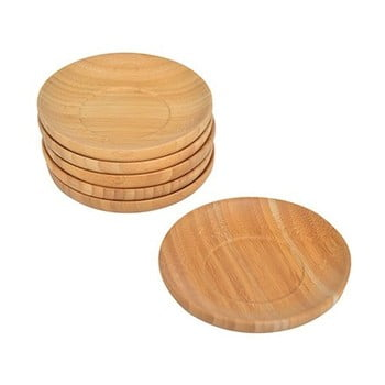 Set 6 suporturi din bambus pentru pahare Bambum Silva bonami.ro