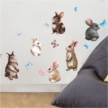 Autocolant de perete Ambiance Baby Rabbits bonami.ro