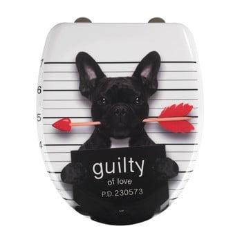 Capac WC cu închidere lentă Wenko Guilty Dog, 45 x 38 cm poza bonami.ro