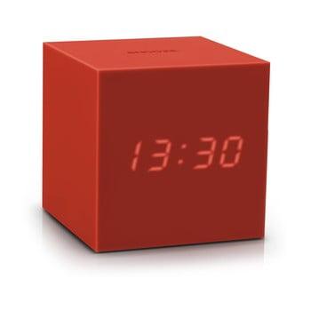 Ceas deșteptător cu LED Gingko Gravity Cube, roșu bonami.ro