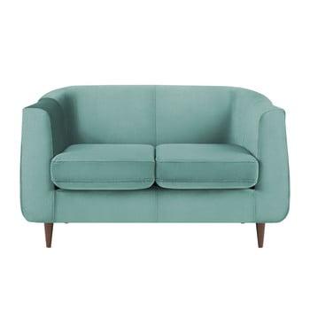 Canapea cu tapițerie din catifea Kooko Home GLAM, turcoaz, 125 cm