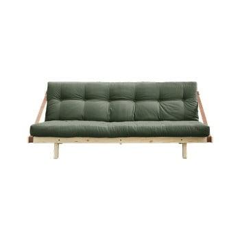 Canapea extensibilă Karup Design Jump Natural/Olive Green, verde imagine