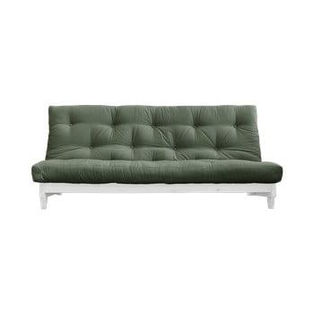 Canapea extensibilă Karup Design Fresh White/Olive Green, verde bonami.ro