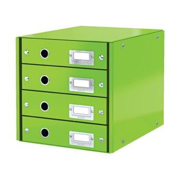 Cutie cu 4 compartimente Leitz Office, lungime 36 cm, verde bonami.ro