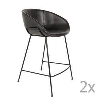 Set 2 scaune bar Zuiver Feston, înălțime scaun 65cm, negru imagine