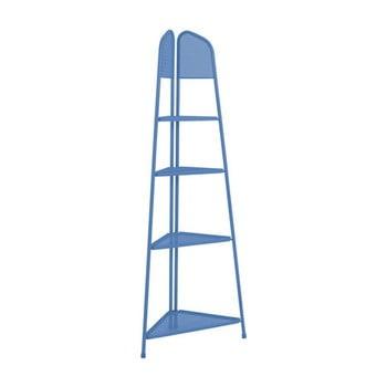 Etajeră metalică pe colț pentru balcon ADDU MWH, înălțime 180 cm, albastru poza bonami.ro