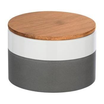 Cutie depozitare din ceramică cu capac din bambus Wenko Malta, 750 ml bonami.ro