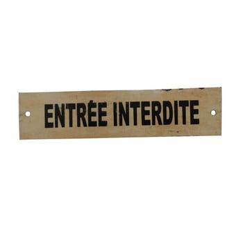 Tăbliță Antic Line Entrée Interdite, crem bonami.ro