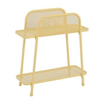 Masă auxiliară metalică pentru balcon ADDU MWH, înălțime 70 cm, galben bonami.ro