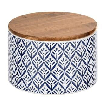 Cutie depozitare din ceramică cu capac din bambus Wenko Lorca, 750 ml bonami.ro