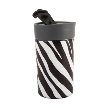 Cană termos din oțel inoxidabil Navigate Zebra, 300 ml, negru - alb bonami.ro