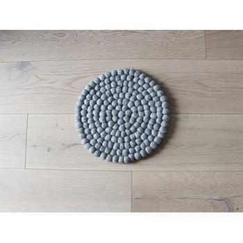 Pernă cu bile din lână pentru copii Wooldot Ball Chair Pad, ⌀ 30 cm, gri oțel poza bonami.ro