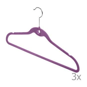 Set 3 umerașe Domopak Velvet Hangers, violet bonami.ro