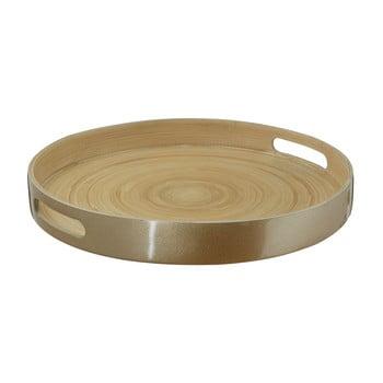 Tavă servire din bambus Premier Housewares Kyoto, ⌀ 35 cm, auriu bonami.ro
