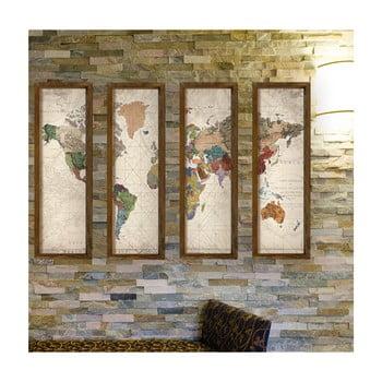 Tablou decorativ din mai multe piese World, 19 x 70 cm poza bonami.ro