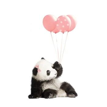 Autocolant pentru perete Dekornik Pink Panda, 55 x 92 cm poza bonami.ro