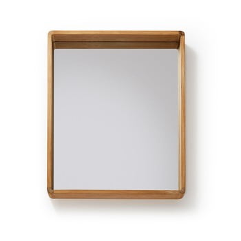Oglindă cu ramă din lemn de tec La Forma Sunday, 80 x 65 cm bonami.ro
