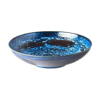 Bol servire din ceramică MIJ Copper Swirl, ø28 cm, albastru poza bonami.ro